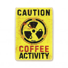 "Постер ""Caution - coffeeactivity"""