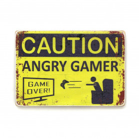 "Постер ""Caution. Angry gamer"""