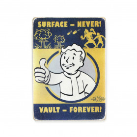 "Постер ""Fallout. Surface — never! Vault — forever"""
