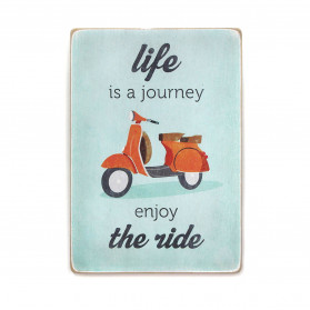 "Постер ""Life is a journey, enjoy the ride. Blue"""