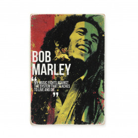 "Постер ""Bob Marley. My music fights against the system"""