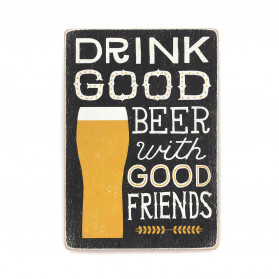 "Постер ""Drink good beer with good friends. Black"""