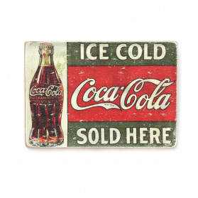 "Постер ""Ice cold Coca-Cola sold here"""