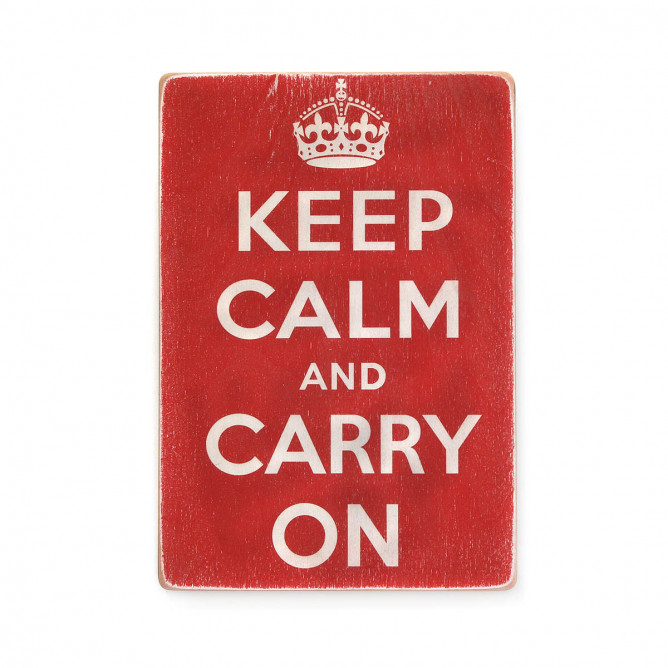 "Постер ""Keep calm and carry on"" - 250 руб."