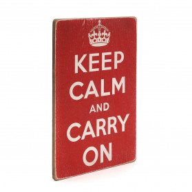 "Постер ""Keep calm and carry on"""