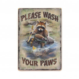 "Постер ""Please wash your paws"""
