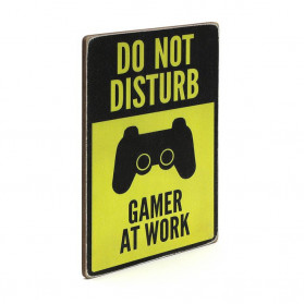 "Постер ""Do not disturb. Gamer at work. Yellow and black"""