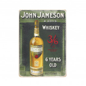 "Постер ""John Jameson and sons. Six year old whiskey bottle"""