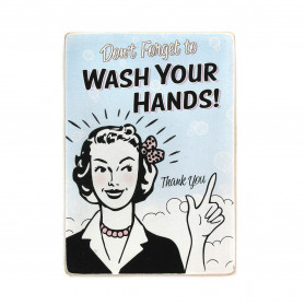 "Постер ""Don't forget to wash your hands. Thank you"""
