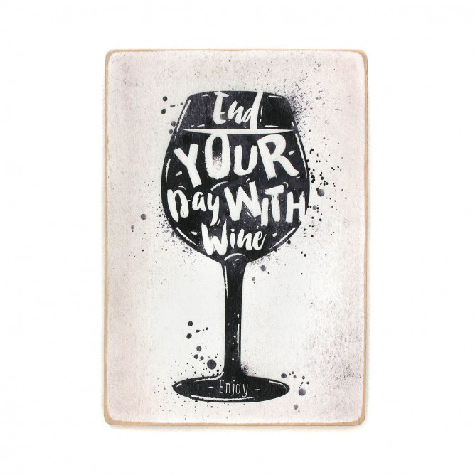 "Постер ""End your day with wine"""
