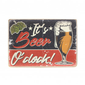 "Постер ""It's beer o'clock! Art"""