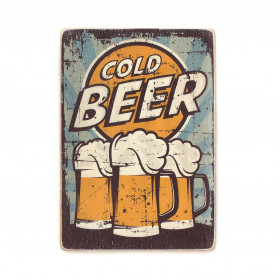 "Постер ""Cold beer. Blue background"""