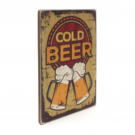 "Постер ""Cold beer. Yellow background"""