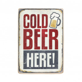 "Постер ""Cold beer here!"""