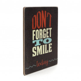 "Постер ""Don't forget to smile today. Brown background"""